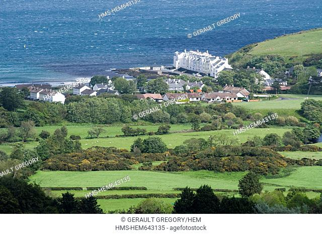 United Kingdom, Northern Ireland, Antrim county, Coast of Antrim, Cushendun, bay of Cushendun