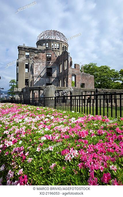 Hiroshima Peace Memorial, commonly called the Atomic Bomb Dome or Genbaku Domu, in Hiroshima, Japan, is part of the Hiroshima Peace Memorial Park and was...