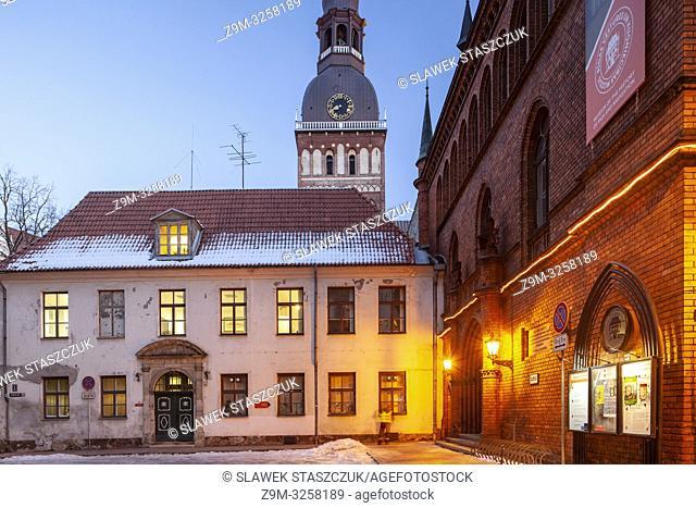 Dawn in Riga old town, Latvia