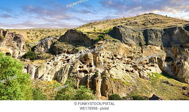 Vardzia medieval cave city and monastery, Erusheti Mountain, southern Georgia