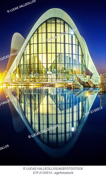 Oceanografic by Félix Candela, in City of Arts and Sciences by S. Calatrava. Valencia. Spain