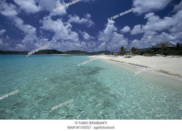 necker island, long beach