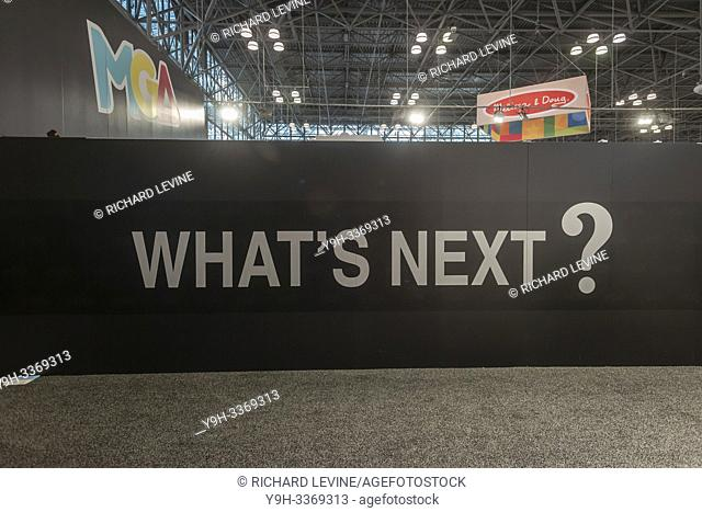 What's Next at the 116th North American International Toy Fair in the Jacob Javits Convention center in New York on Sunday, February 17, 2019