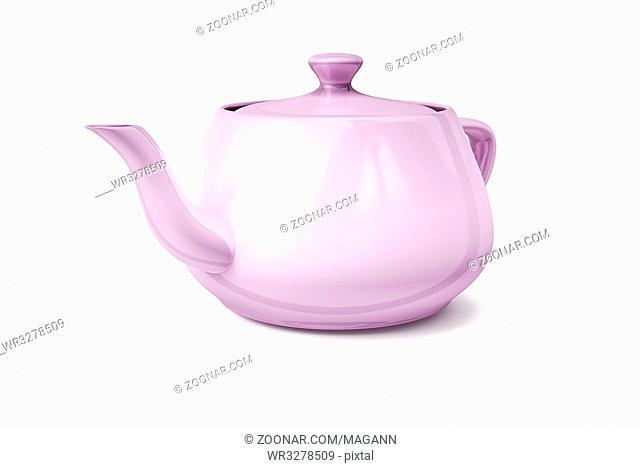 3d illustration of a typical tea pot