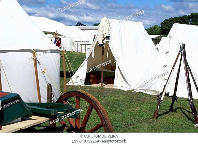 Revolutionary War Reenactment camp