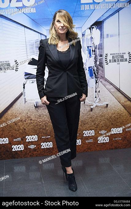 Eva Cebrian attends '2020' Documental Movie Exclusive Premiere at Wizink Center on November 26, 2020 in Madrid, Spain