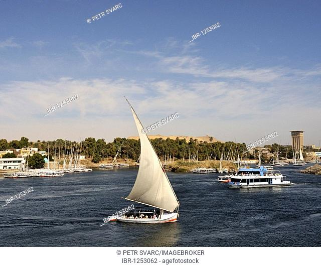 Felucca On River Nile in Aswan, Egypt, North Africa
