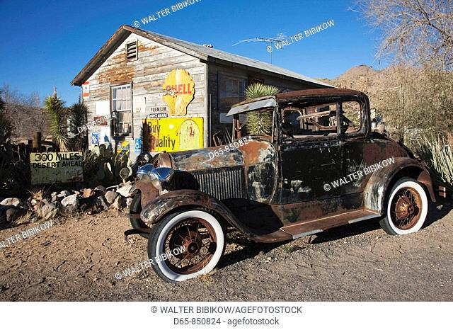 Old Rt 66 visitor's center, Rt. 66 Town, Kingman, Arizona, USA