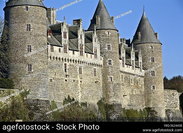Josselin castle. Morbihan, Brittany, France. Made between 1490 and 1505 using many elements from the Louis XII style