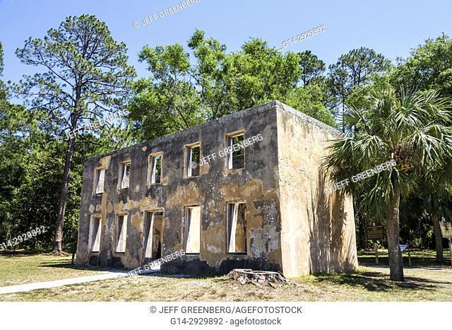 Georgia, Jekyll Island, barrier island, historic site, Horton House, tabby building ruin