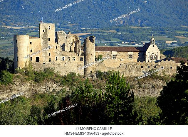 France, Hautes Alpes, Tallard Castle (XIV and XVI) and St. Gregory church classified as Historical Monuments