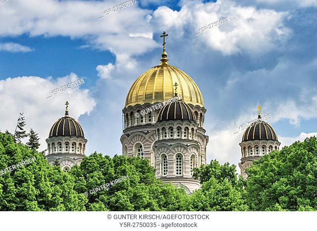 The Nativity of Christ Cathedral is a Russian Orthodox Church in Riga. The Church was built from 1876 to 1883, in the Neo-Byzantine style by Robert Pflug, Riga