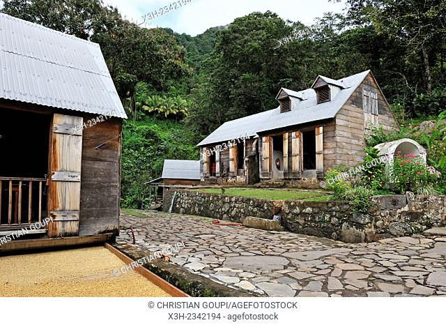 ''Habitation La Griveliere'', former coffee and cocoa plantation, nowadays an ecomuseum, Vieux-Habitants, Basse-Terre, Guadeloupe, overseas region of France