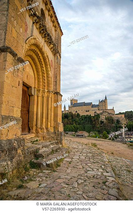 The Alcazar from Vera Cruz church. Segovia, Castilla Leon, Spain