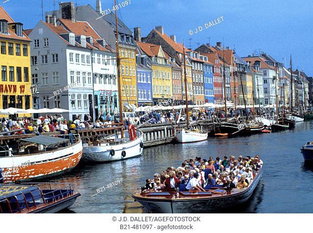'Nyhavn' at Copenhagen. Denmark