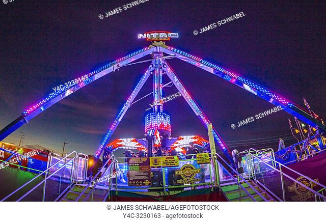 Night at the Manatee County Fair at the Manatee County Fairgrounds in in Palmetto Florida