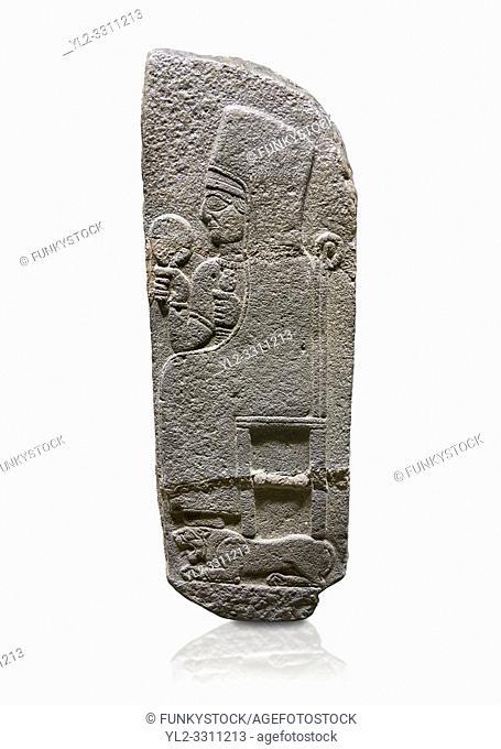 Hittite monumental relief sculpted orthostat stone panel of a Procession Basalt, Karkamıs, (Kargamıs), Carchemish (Karkemish), 900 - 700 B. C
