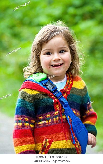 Young girl in sweater