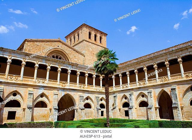 Spain - Castile and Leon - Province of Soria - Santa Maria de Huerta - Courtyard of Cistercian Royal Monastery