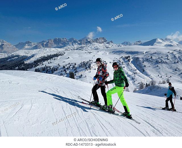 Pralongia, Piz Lavarela, Gader valley, Dolomites, Italy