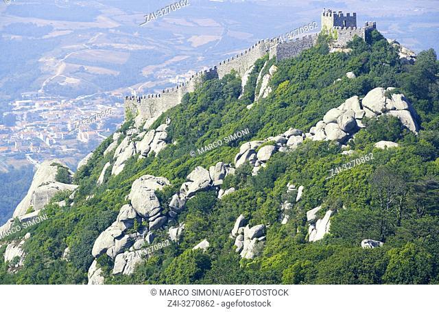Moorish Castle, Sintra, Portugal, Europe