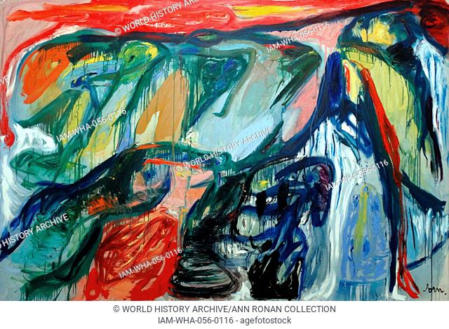In the Wing beat of the Swans (oil on canvas) by Asger Jorn (1914-1973), a Danish painter, sculptor, ceramic artist and author