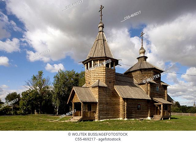 Church of the Transfiguration from village of Kozliatyevo (1756), Museum of Wooden Architecture, Suzdal. Golden Ring, Russia