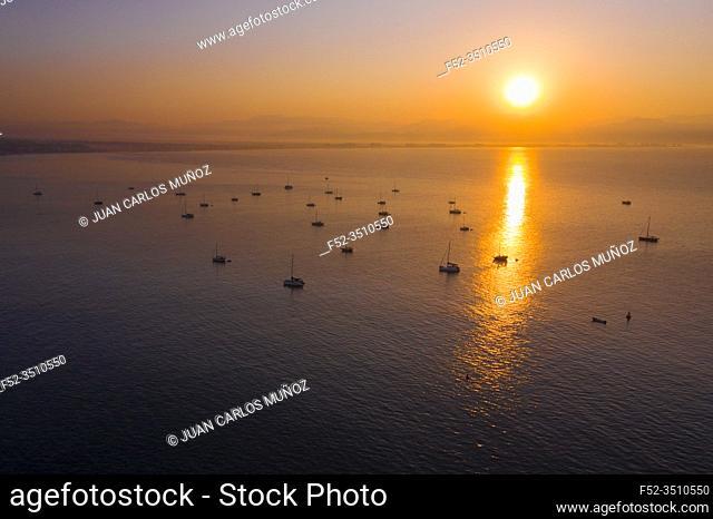 Sunrise, Sailing boats, Yatch Marina Riviera Nayarit, La Cruz de Huanacaxtle, Banderas Bay, Riviera Nayarit, Pacific Ocean, Nayarit State, Mexico