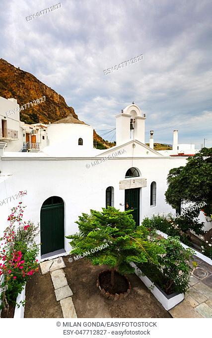 Church in Chora village on Skyros island, Greece.