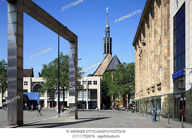 Germany, Dortmund, Ruhr area, Westphalia, North Rhine-Westphalia, NRW, Hansa Square, facade of the former department store Theodor Althoff, nowadays Karstadt