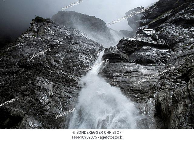 Surselva, waterfall, reservoir, Pigniu, mountain, mountains, waterfall, canton, GR, Graubünden, Grisons, Switzerland, Europe