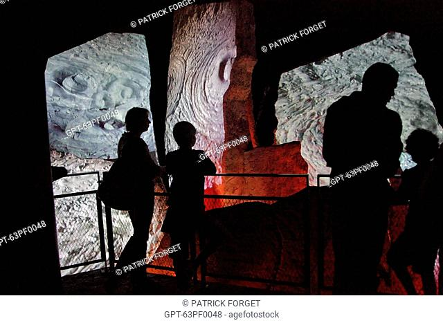 PRESENTATIONS IN THE GRUMBLINGS OF THE EARTH GALLERY, VULCANIA THEME PARK, SAINT-OURS-LES ROCHES, PUY-DE-DOME 63, FRANCE