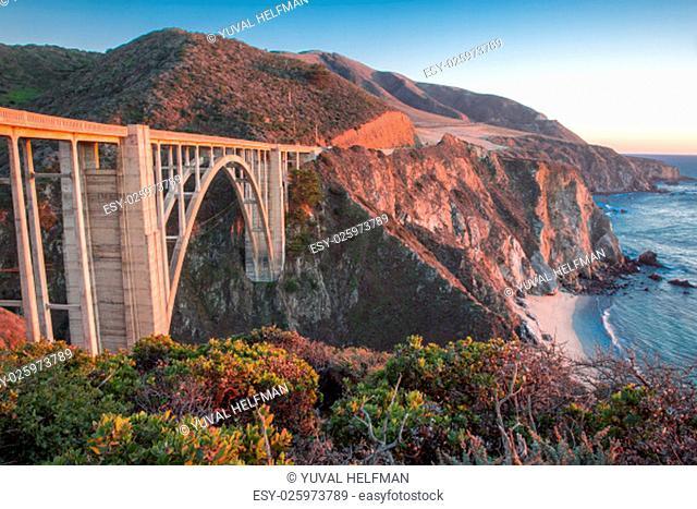 Bixby Creek Bridge, also known as Bixby Bridge, is a reinforced concrete open-spandrel arch bridge in Big Sur, California