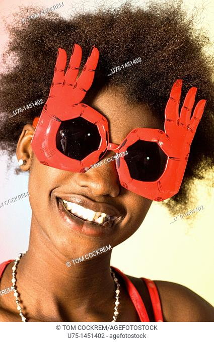 black african teenage model