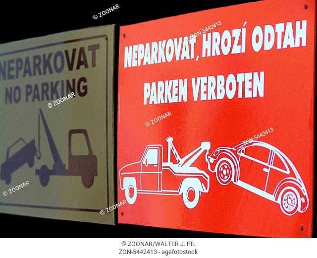 SCHILD WANDSCHILD NO PARKING PARKVERBOT AUTO PKW LKW VERBOT EISEN  KURNOLDS 0741