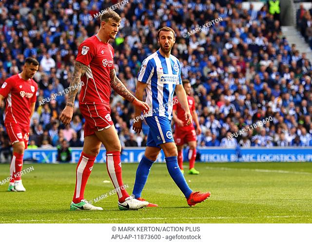 2017 Skybet Championship Brighton v Bristol City Apr 29th. April 29th 2017, Brighton, Sussex, England; Skybet Championship football
