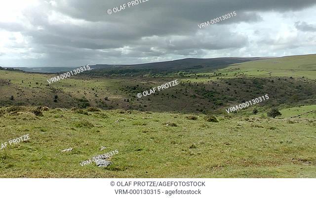 Landscape at the Dartmoor National Park, Devon, England, UK