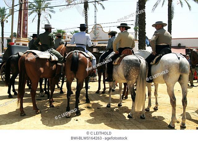 festive day Feria del caballo in Jerez, Spanien, Andalusien, Jerez De La Frontera