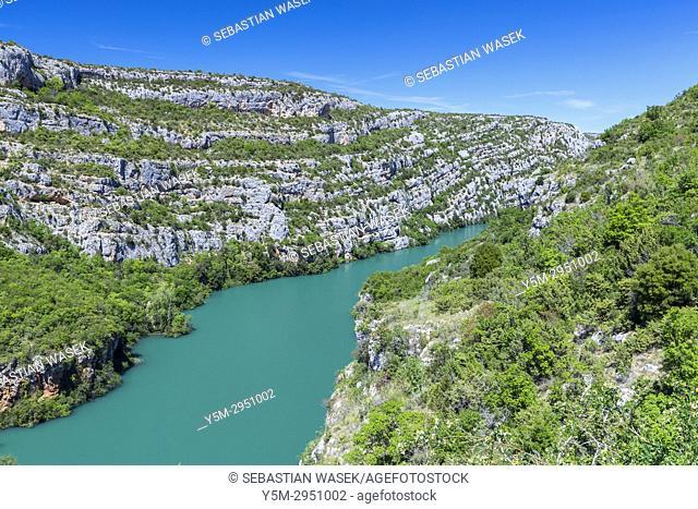 Roški Slap, Krka National Park, Bogatic, Sibensko-Kninska, Dalmatia, Croatia, Europe