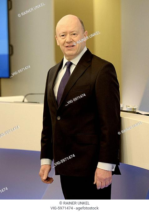 Annual press conference of Deutsche Bank AG on 02.02.2018 : John CRYAN , CEO - Frankfurt, Hesse, Germany, 02/02/2018