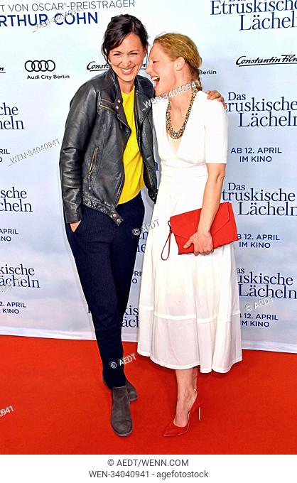 "world premiere of """"Das etruskische Laecheln"""" at the Zoo Palast in Berlin Featuring: Nike Fuhrmann, Tessa Mittelstaedt Where: Berlin"