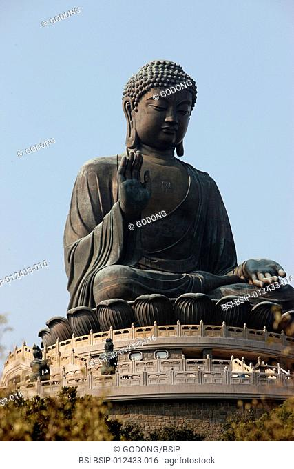 Po Lin Monastery. Statue of the Buddha, the largest in Asia