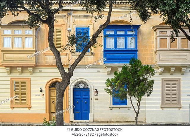 Malta. Typical houses at Rabat