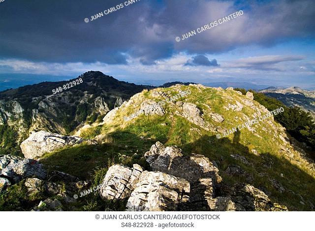 Views from Mount Mugarra, Urkiola Natural Park, Vizcaya, Spain