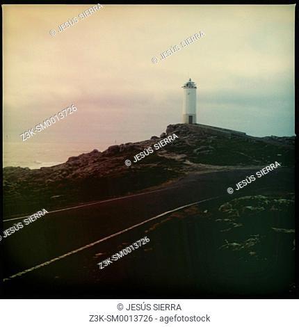 Lighthouse, Punta Roncudo, A Coruña, Costa da Morte, Galicia, Spain