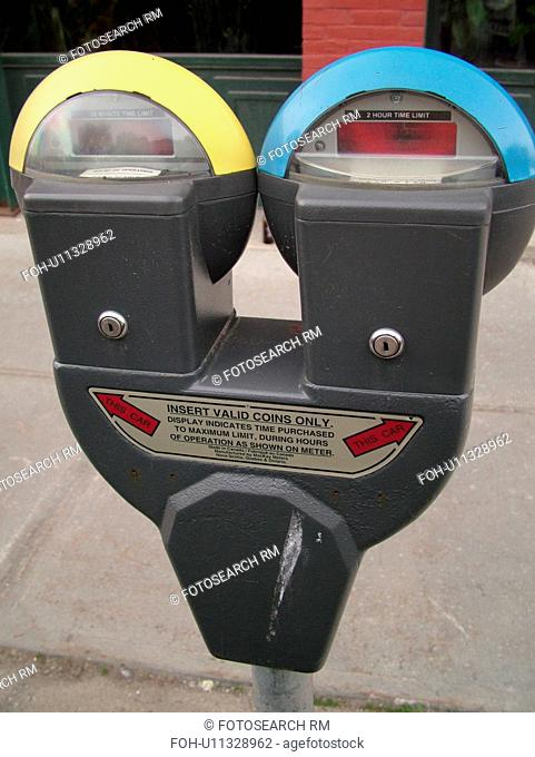 parking meter, double, pay and park