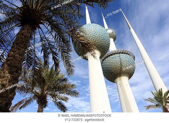 Kuwait towers, the famous landmark in Kuwait, Kuwait City