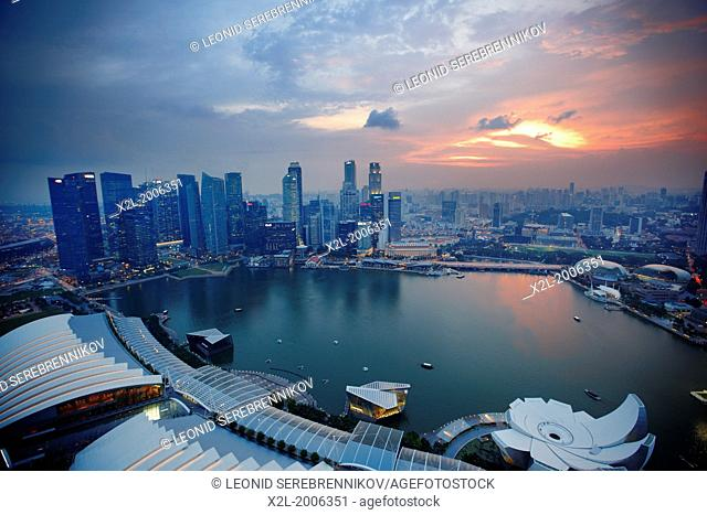 Elevated view of Marina Bay, Singapore
