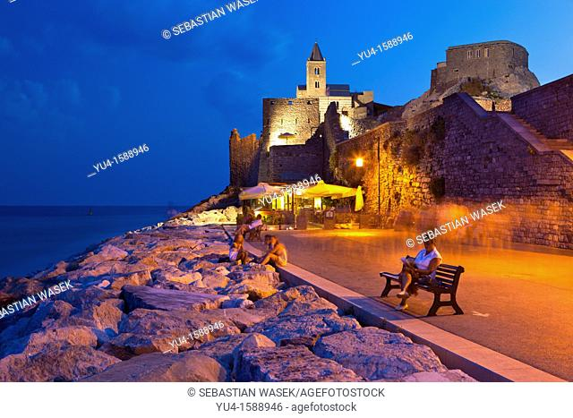 San Pietro Church at Portovenere, UNESCO World Heritage Site, Liguria, Italy, Europe