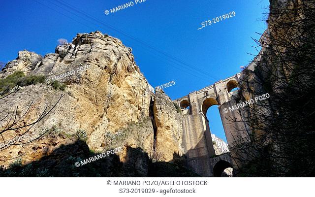 Puente Nuevo, bridge, Ronda, Malaga province, Spain